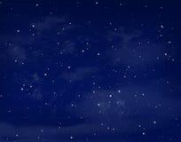 Stelle in un cielo blu di notte royalty illustrazione gratis