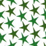 Stelle - un insieme delle stelle disegnate a mano dell'acquerello, isolato su bianco immagini stock