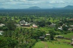 Stelle und Landschaft Dorf Satara stockbilder