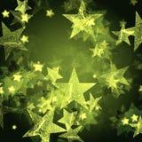 Stelle verdi brillanti illustrazione vettoriale