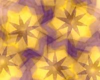 Stelle viola sul reticolo giallo Fotografia Stock Libera da Diritti