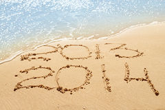 Stellen auf dem Sand Lizenzfreie Stockfotos