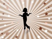 Stellen-danst meisjesachtergrond Royalty-vrije Stock Afbeelding