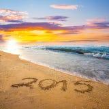 Stellen des neuen Jahres 2015 Stockfotos