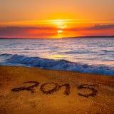 Stellen des neuen Jahres 2015 Stockbilder