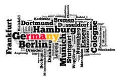 Stellen in Deutschland Stockbilder