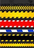 Stellen Sie Achtungbänder, nahtlosen Streifen ein. Stockbild