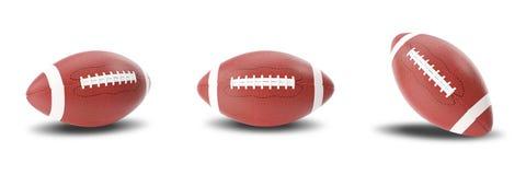 Stellen Sie amerikanischen Ball des Rugbys lokalisiert auf weißem Hintergrund ein Abbildung 3D Lizenzfreie Stockfotos