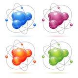 Stellen Sie Atom-Baumuster ein lizenzfreie abbildung