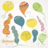 Stellen Sie Ballone ein Lizenzfreies Stockbild