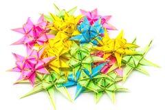 Stellen Sie Band gefaltet in eine Blume ein Verpackung prägt eigenhändig lizenzfreie stockbilder