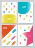Stellen Sie Bucheinbanddesign ein Stockbild
