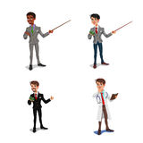 Stellen Sie 3d Geschäftsmänner, Manager, Gesundheitsfürsorger ein Stockfotografie