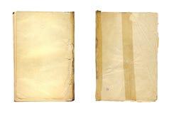 Stellen Sie das alte alte zerknitterte Papier auf weißem Hintergrund ein Stockfotos