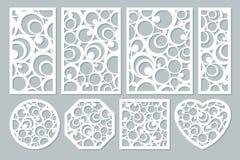 Stellen Sie dekoratives Design der Elemente ein geometrisches Verzierungsmuster Stockfotografie