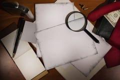 Stellen Sie Detektiv ein lizenzfreie stockbilder