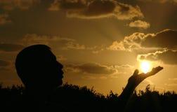 Stellen Sie die Sonne ab Lizenzfreies Stockbild