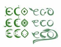 Stellen Sie eco Wörter ein Lizenzfreies Stockfoto