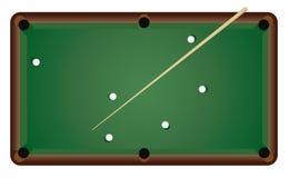 Stellen Sie ein, um Billiarde zu spielen lizenzfreie abbildung
