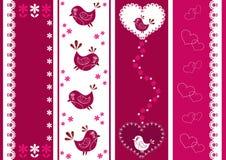 Stellen Sie für Einklebebuch mit Vögeln ein. Lizenzfreies Stockbild