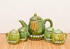Stellen Sie für Tee ein. Lizenzfreies Stockfoto