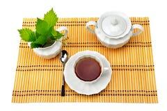 Stellen Sie für Tee ein Stockbild