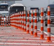 Stellen Sie Farbenkegel für Einschließungsstraße ein Lizenzfreie Stockbilder