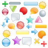 Stellen Sie farbige Symbole und Formen ein Lizenzfreie Stockfotos