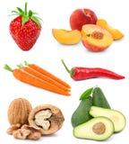 Stellen Sie Frucht ein Stockfotos
