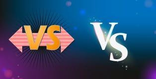 Stellen Sie gegen vom Logo gegen Buchstaben f?r Sport und Kampfwettbewerb ein Muttahida Majlis-e-Amal, UFS, Kampf, gegen Match, S lizenzfreie abbildung