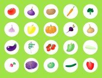 Stellen Sie Gemüse ein lizenzfreie abbildung