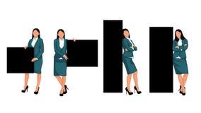 Stellen Sie Geschäftsfrau ein Lizenzfreie Stockfotos