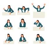Stellen Sie Geschäftsfrau ein Lizenzfreie Stockfotografie