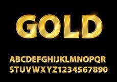 Stellen Sie Goldguss-Formzusammensetzung ein goldenes Logoplakat der klassischen Art lizenzfreies stockfoto