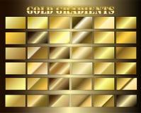 Stellen Sie Goldprämie grsdients ein stock abbildung
