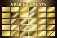 Stellen Sie Goldprämie grsdients ein Lizenzfreies Stockfoto