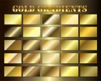 Stellen Sie Goldprämie grsdients ein Stockbild
