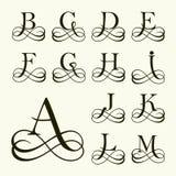 Stellen Sie Großbuchstaben für Monogramme und Logos ein Stockfotos