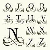 Stellen Sie Großbuchstaben für Monogramme und Logos ein Stockfotografie