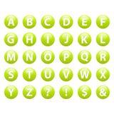 Stellen Sie Gussknopf Ikonen-ABC-Zeichen ein Stockbilder