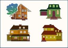 Stellen Sie Häuser ein Lizenzfreies Stockfoto