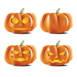 Stellen Sie Halloween-Kürbise ein stock abbildung