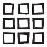 Stellen Sie Hand gezeichnetes Quadrat ein Lizenzfreie Stockfotografie