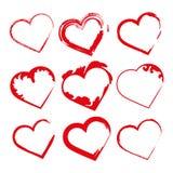 Stellen Sie Herzen, Valentinstagförderungen ein Lizenzfreies Stockfoto