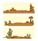 Stellen Sie Hintergründe für Standort die Wüste ein Stockfoto