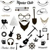 Stellen Sie Hippie-Ikonen ein vektor abbildung