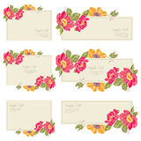 stellen Sie Hochzeitseinladungskarte ein Stockfotografie