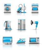 Stellen Sie Ikone der Haushaltsgeräte ein Stockbild