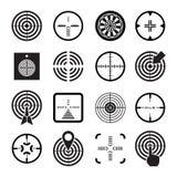 Stellen Sie Ikonen des Ziels und des Anblicks ein Lizenzfreies Stockbild