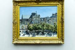 Stellen Sie im Alte das alte National Gallery-Museum auf Museumsinsel in Berlin Germany aus Lizenzfreie Stockfotos